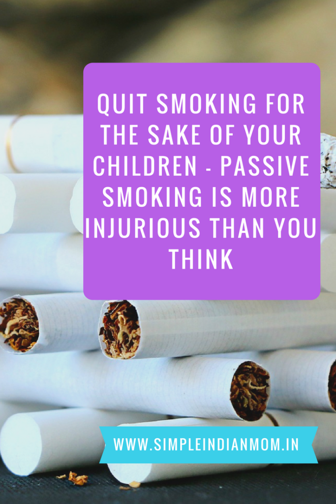quit smoking for the sake of your children   passive